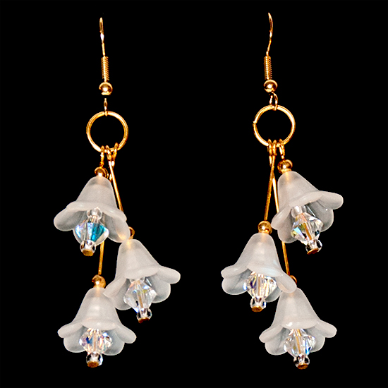 Fairy Bells Earrings – White